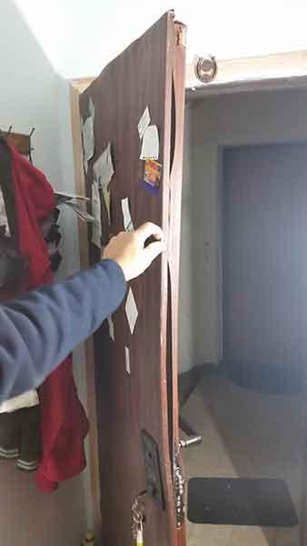 תיקון דלת אחרי פריצת מכבי אש